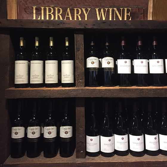 Guglielmo Winery Tasting Room Library Wines