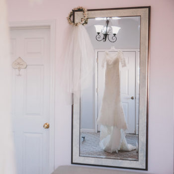 Guglielmo Winery Wedding Dress Reflection
