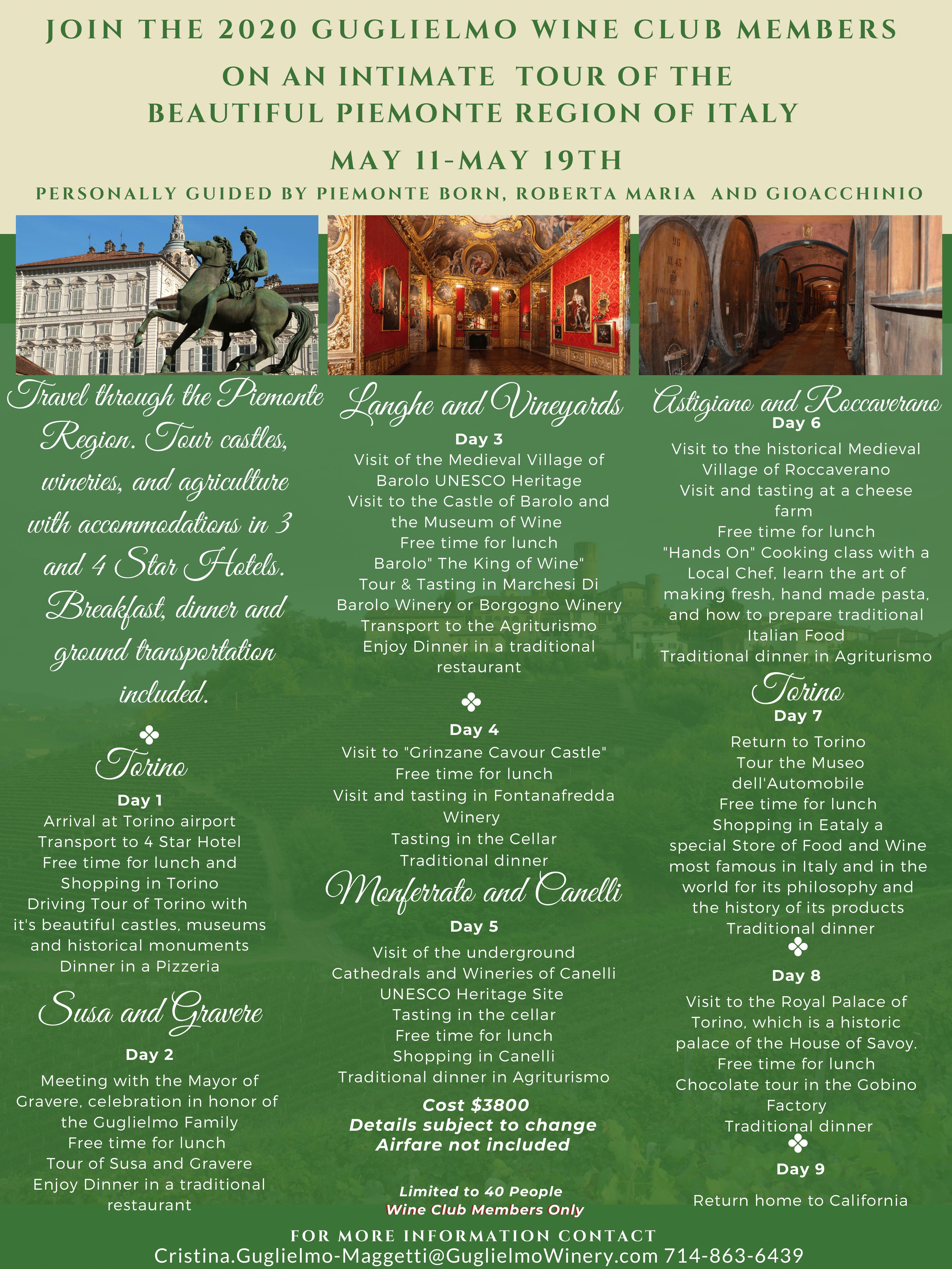 Piemonte Experience Itinerary