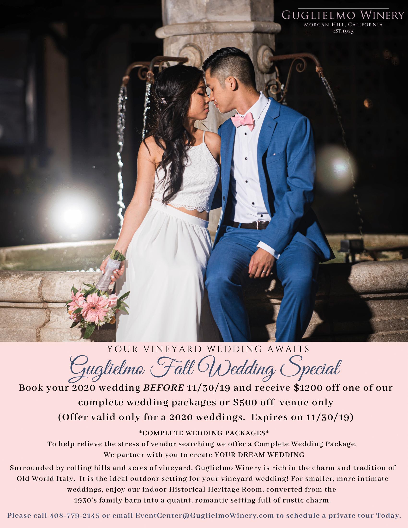 Guglielmo Fall Wedding Special